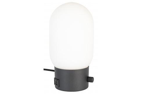 Bílo černá skleněná stolní lampa ZUIVER URBAN Stolní lampy