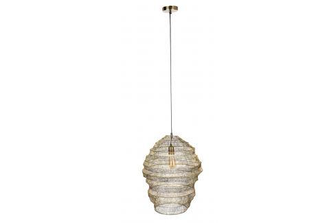 Mosazné kovové závěsné světlo DUTCHBONE LUCA L Závěsná svítidla