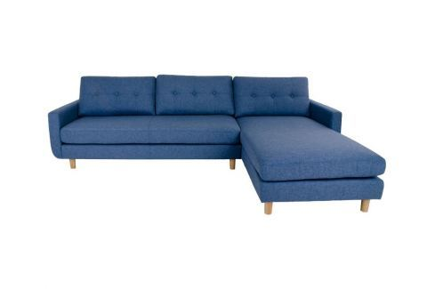 Rohová pohovka Erling, pravá, látka, modrá 1301022 Nordic Living Rohové pohovky
