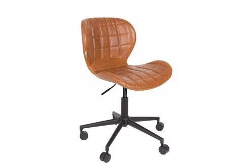 Kancelářská židle ZUIVER OMG, hnědá 1300006 Zuiver Kancelářské židle