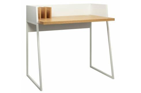 Kancelářský stůl Glaucia, dubová dýha, bílá 9003.052811 Porto Deco Kancelářský nábytek