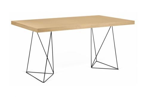 Kancelářský stůl Antonio 180 cm, černá/dub 9500.613807 Porto Deco Kancelářský nábytek
