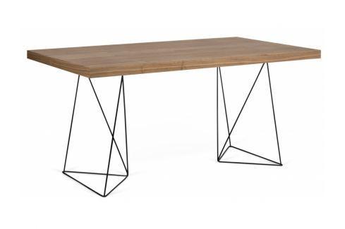 Kancelářský stůl Antonio 160 cm, černá/ořech 9500.613777 Porto Deco Kancelářský nábytek
