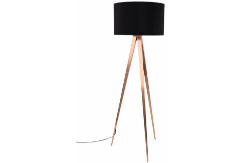Stojací lampa ZUIVER TRIPOD Ø 50 cm, měď/černá 5100053 Zuiver Stojací lampy