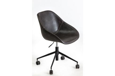 Kancelářská židle Poler, kůže/kov, tmavě šedá 89219 CULTY Kožené