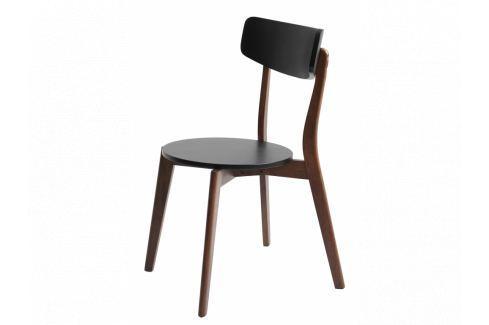 Jídelní židle Toe, černá/ořech Nordic:55322 Nordic Pokoj a jídelna - Jídelní židle