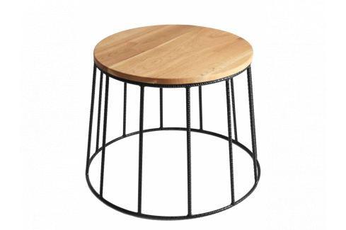 Nordic Design Konferenční stolek Nollan II 80 cm, černá Konferenční stolky