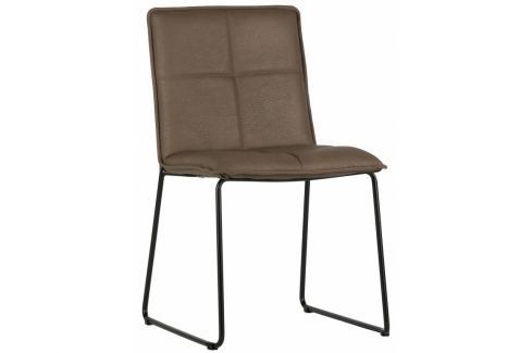 Židle Lagris, ekokůže, hnědá dee:373575-B Hoorns Ekokůže