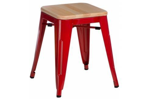 Culty Konferenční stolek Dilmar 60 cm, bílá/dub Stoličky a lavice