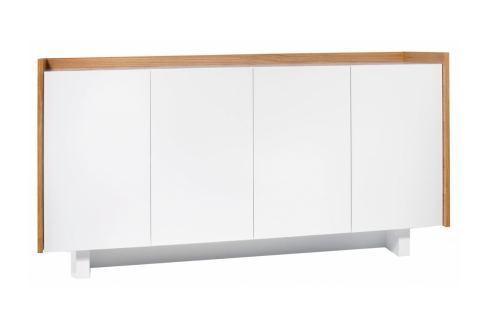 Designová komoda Cintia 161 cm, bílá/dub 9500.400254 Porto Deco Komody