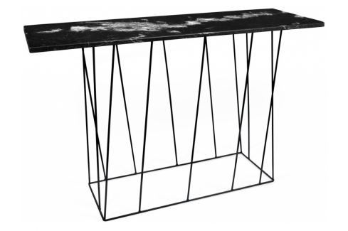 Toaletní stolek Rofus, černá podnož, černý mramor 9500.627477 Porto Deco Toaletní stolky