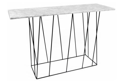 Toaletní stolek Rofus, černá podnož, bílý mramor 9500.627460 Porto Deco Toaletní stolky