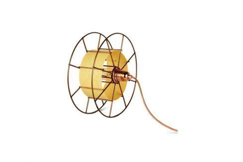 Stolní světlo Drum, měď/žlutá tf006 Odemark Stolní lampy