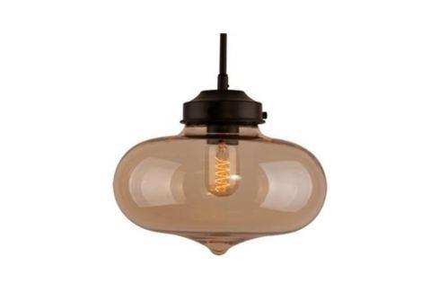 Závěsné světlo Rabat 28 cm, transparentní jantarová 83963 CULTY Závěsná svítidla
