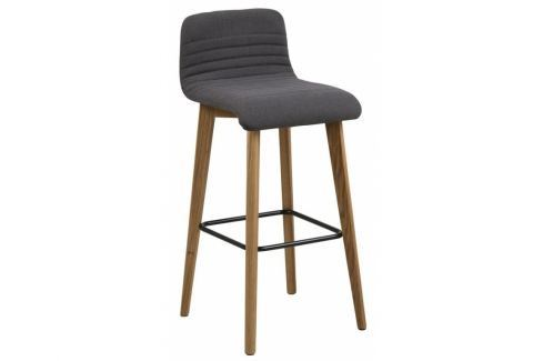 Barová židle Areta, látka, antracit SCHDN0000067195 SCANDI Barové židle