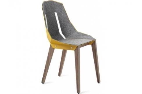 Židle Tabanda DIAGO, ořechová podnož, plst (RAL1004)  diago_orech_plst Tabanda Pokoj a jídelna - Jídelní židle