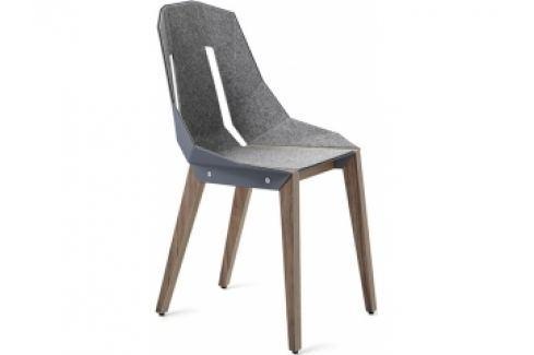 Židle Tabanda DIAGO, ořechová podnož, plst (RAL7031)  diago_orech_plst Tabanda Pokoj a jídelna - Jídelní židle