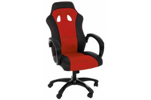 Kancelářské křeslo Gasol, červená SCHDN0000061272 SCANDI Kožené
