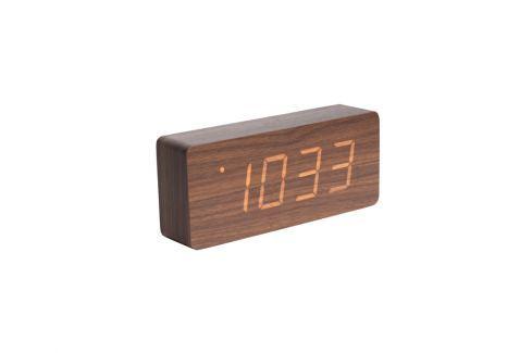 Budík Level IV., oranžový LED displej, tmavé dřevo Stfh-KA5654DW Time for home+ Budíky