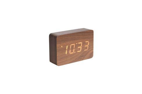 Budík Level II., oranžový LED displej, tmavé dřevo tfh-KA5653DW Time for home Budíky