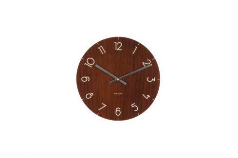Nástěnné hodiny Maza, 40 cm, sklo, tmavé dřevo Stfh-KA5619DW Time for home+ Nástěnné