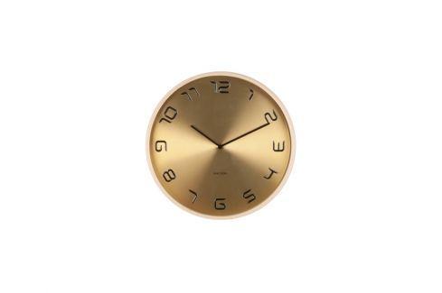 Nástěnné hodiny Holt, 35 cm, dřevo, zlatá tfh-KA5611GD Time for home Nástěnné