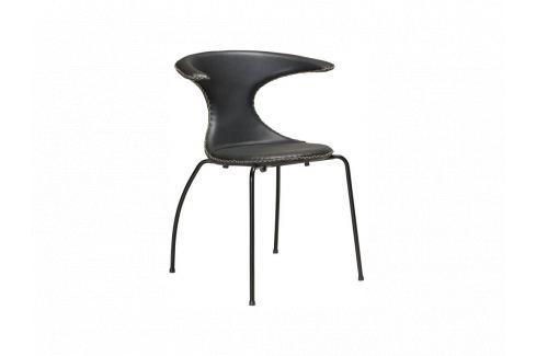 Židle DanForm Flair, černá, pravá kůže, podnož černá DF100220112 DAN FORM Pokoj a jídelna - Jídelní židle