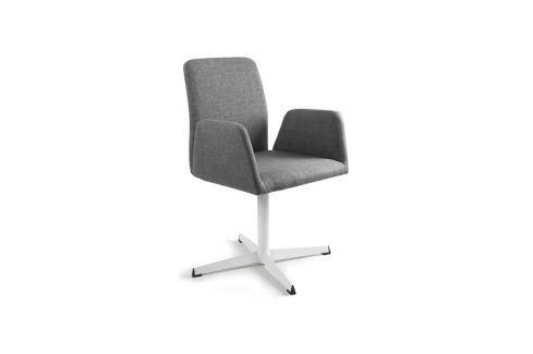 Konferenční židle Bela s pevnou kovovou základnou, šedá UN:775 Office360 Konferenční židle