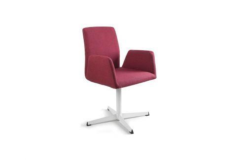Konferenční židle Bela s pevnou kovovou základnou, červená UN:777 Office360 Konferenční židle
