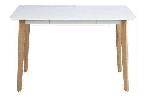 Pracovní stůl se zásuvkou Corby, bílá SCHDN0000056715 SCANDI Kancelářský nábytek