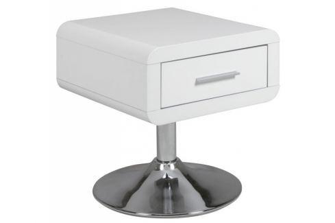 Noční stolek Borono, bílá/chromová SCHDN0000060828 SCANDI Noční stolky