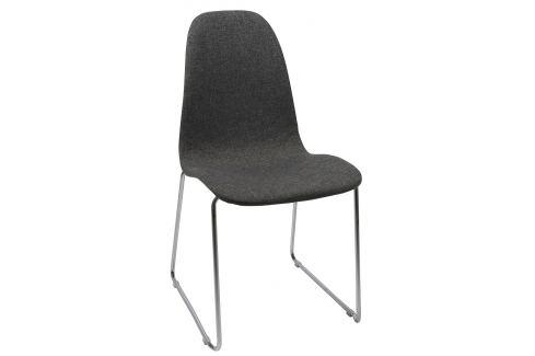SCANDI Antracitově šedá čalouněná židle Barcy Skladovky