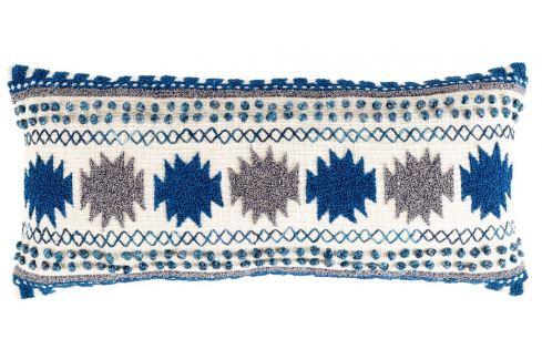 Modrý polštář ZUIVER SALA s orientálním vzorem Skladovky