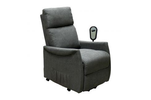 Relaxační křeslo REX šedé Pokoj a jídelna - Relaxační křesla