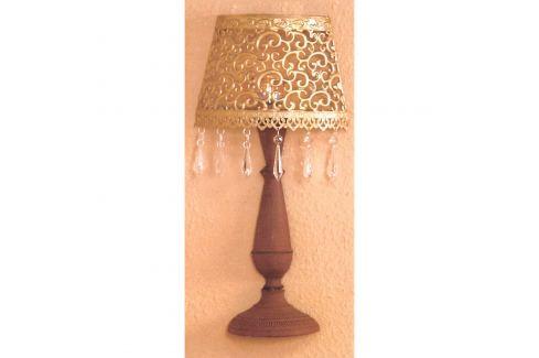 Nástěnná dekorativní kovová lampa zlatá/hnědá Ložnice - Bytové doplňky