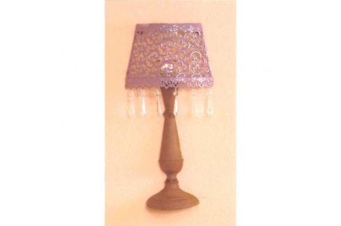 Nástěnná dekorativní kovová lampa fialová/hnědá Ložnice - Bytové doplňky