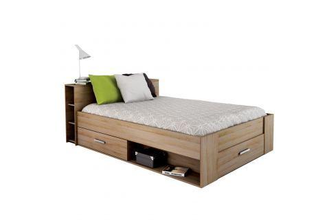 Multifunkční postel POCKET 140x200 159571 dub Postele