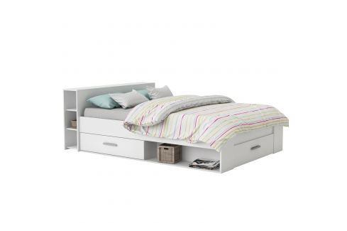 Multifunkční postel POCKET 140x200 159574 bílá Postele