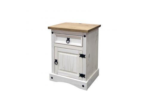 Noční stolek CORONA bílý vosk 16345B Postele