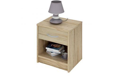 Noční stolek 163757 dub Pokoj a jídelna - Stoly a stolky - Noční stolky