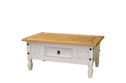 Konferenční stolek CORONA bílý vosk 163910B Pokoj a jídelna - Stoly a stolky - Konferenční stolky