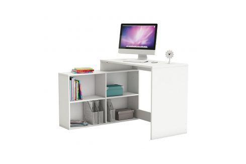 Rohový psací stůl CORNER bílý Pracovna - Psací a PC stoly