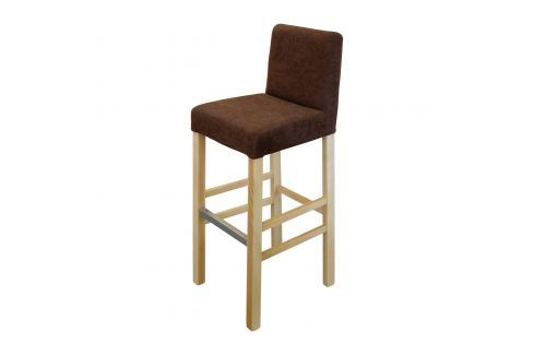 Barová židle BARI buk/tmavě hnědá Pokoj a jídelna - Jídelní židle