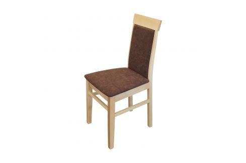 Jídelní židle OLI buk/tmavě hnědá Pokoj a jídelna - Jídelní židle