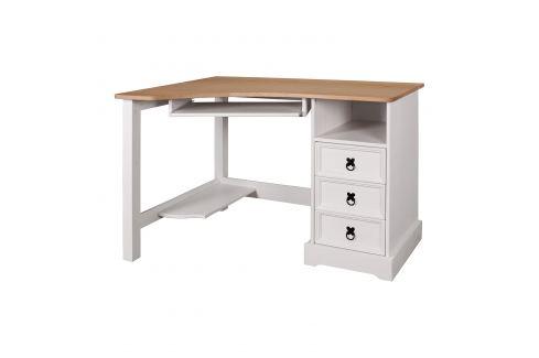 Psací stůl rohový CORONA bílý vosk Pracovna - Psací a PC stoly
