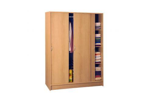 Skříň s posuvnými dveřmi 3323 buk Skříně a skříňky