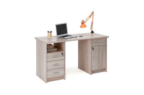 Psací stůl MONACO dub Shannon Pracovna - Psací a PC stoly
