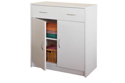 Prádelník s dvířky 4123 bílá Komody