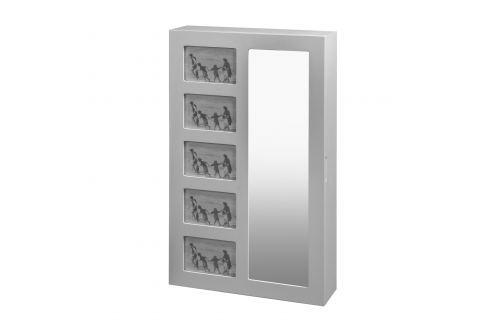 Závěsné zrcadlo se šperkovnicí STELLA Pokoj a jídelna - Stoly a stolky - Noční stolky
