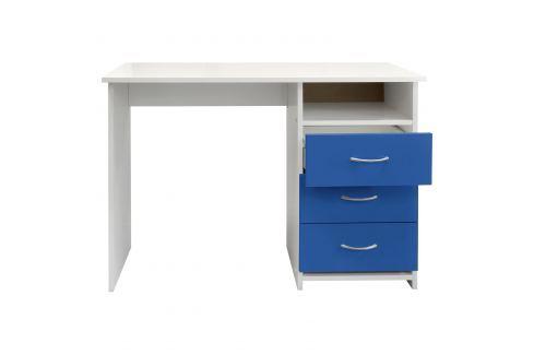 Psací stůl 44 modrá/bílá Pracovna - Psací a PC stoly